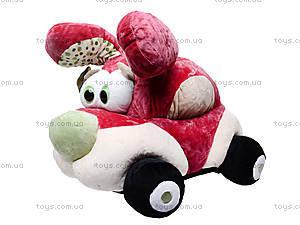 Плюшевая машина-игрушка «Софт-мобиль», К345А, магазин игрушек