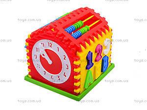 Детский сортер с часами «Домик», 50-301, купить
