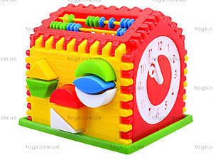 Детский сортер с часами «Домик», 50-301, цена