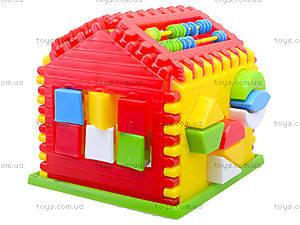 Детский сортер с часами «Домик», 50-301, магазин игрушек