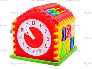 Детский сортер с часами «Домик», 50-301, toys.com.ua