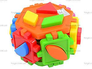 Детский куб-сортер «Геометрические фигуры», 50-105, фото