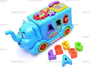 Сортер «Слон», 20238-6, toys.com.ua