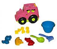 Сортер - трактор «Кузнечик №3» (розовый), 0343