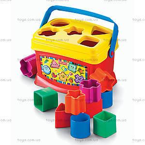 Сортер «Ведерко с кубиками», K7167, цена