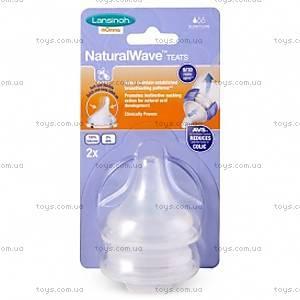 Соска для естественного кормления Natural Wave, медленный поток, 75900