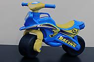 Спортивный желто-голубой байк, 013810