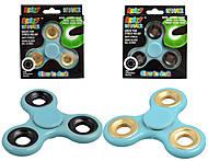 Голубой фосфорный Spinner «Glow in Dark», SP-020(50561)-ГОЛ, іграшки