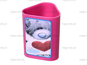Стакан канцелярский  «Мишка Тедди», фиолетовый, 470339, купить