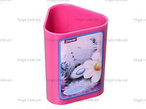 Стакан канцелярский  «Мишка Тедди», фиолетовый, 470339, фото