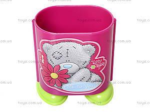 Стакан канцелярский «Мишка Тедди», розовый, 470341, фото