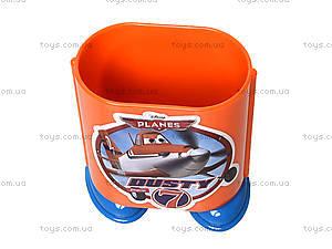 Стакан канцелярский «Самолетики», оранжевый, 470353, фото