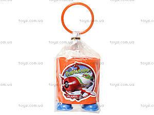 Стакан канцелярский «Самолетики», оранжевый, 470353