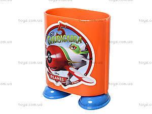 Стакан канцелярский «Самолетики», оранжевый, 470353, цена