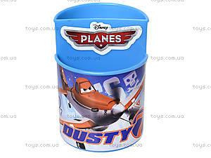Стакан канцелярский «Самолетики», голубой, 470355, цена