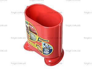 Стакан канцелярский «Тачки», красный, 470233, фото