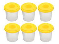 Стакан-непроливайка, желтый (6 штук в упаковке), ZB.6900-08, игрушки