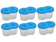 Стакан-непроливайка двойной синий (6 штук в упак), ZB.6901-02, фото