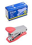 Мини-степлер металлический (скобы №10) розовый, BM.4151-10, тойс