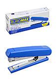 Степлер пластиковый (скобы №10), синий Buromax, BM.4127-02, фото