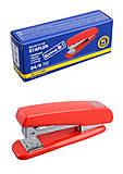 Степлер пластиковый, скрепляет до 20 листов (скобы №24, 26), красный, BM.4210-05, цена