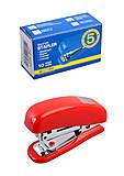 Степлер пластиковый Мини №10, красный , BM.4125-05, магазин игрушек