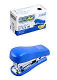 Мини-степлер пластиковый (скобы №10) Buromax, синий , BM.4132-02, интернет магазин22 игрушки Украина