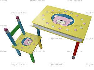 Детская парта со стулом «Мишки», 2803-705