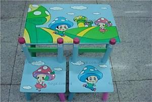 Стол и 2 стула «Грибок», D00868