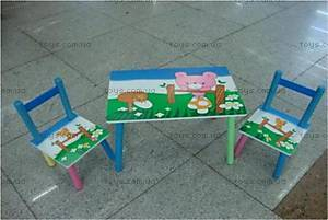 Стол и 2 стула «Медвежонок», B07007(2802-2