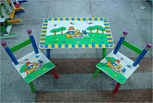 Стол и 2 стула «Мишки», Z-014