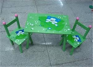 Стол и 2 стула с изображением мишки, B16077