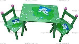 Стол и 2 стула, с мишками, W02-279