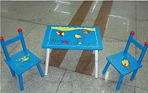 Стол и 2 стула, с рыбками, B06982 (2802-