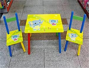Стол и 2 стула, с слоном, Z-020