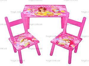 Стол и два стула «Девочки», W02-5150, фото