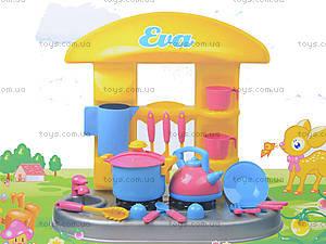 Игрушечный стол-кухня «Ева» с посудой, 04-407, купить