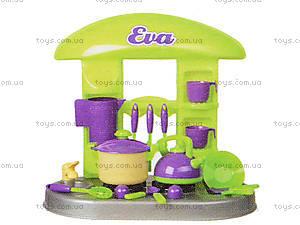 Игрушечный стол-кухня «Ева» с посудой, 04-407, фото