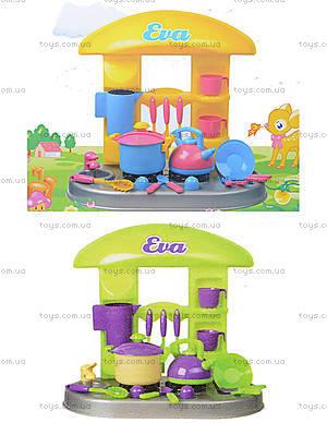 Игрушечный стол-кухня «Ева» с посудой, 04-407