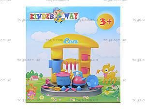 Игрушечный стол-кухня «Ева» с посудой, 04-407, отзывы