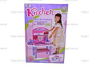 Стол кухонный с посудой, 61008, игрушки