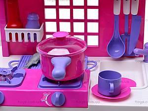 Стол кухонный с посудой, 61008, детские игрушки
