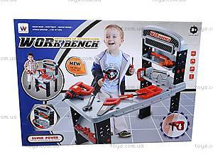 Стол мастера, с инструментами, W076, детские игрушки