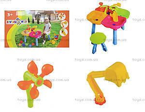 Стол-песочница со стульчиком и игрушками, 01-121-1