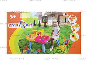 Стол-песочница со стульчиком и игрушками, 01-121-1, детские игрушки