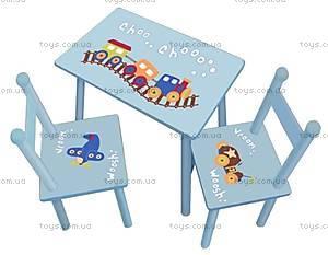 Стол со стульями для малышей, W02-882(H917)