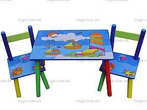 Стол со стульями «Кораблики», W02-3843