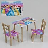 Стол и 2 стульчика с Принцессами, С081, фото