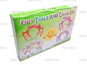 Столик деревянный с 2 стульчиками, 2547-34, отзывы