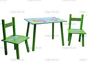 Столик и два стульчика «Смешарики», M0710